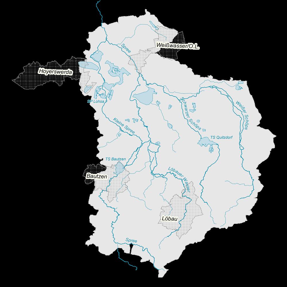Pegelstände Flussgebiet Spree - Särichen/Weißer Schöps