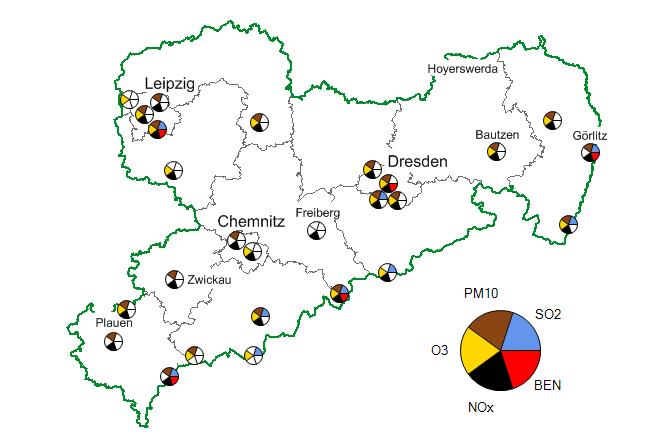 Leipzig Karte Sachsen.Aktuelle Messwerte